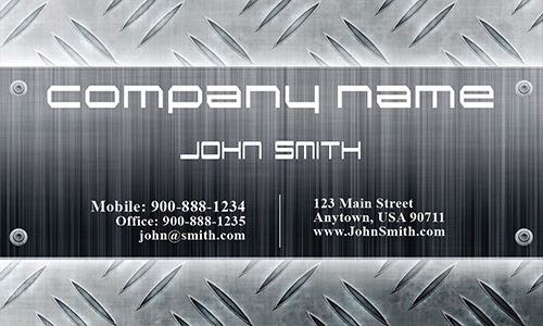 Metal Plate Auto Repair Business Card - Design #501211