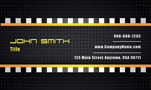 Black Automotive Business Card - Design #501231