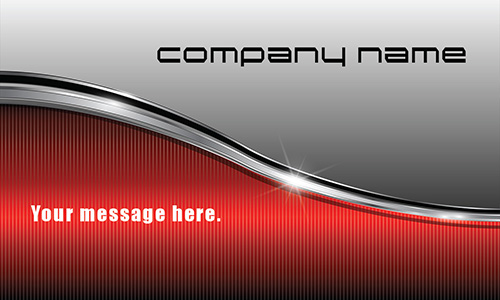 Silver and Red Stainless Car Business Card - Design #501301