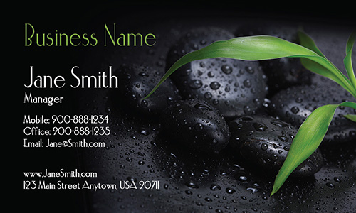 Hot Stones Massage and Spa Business Card - Design #601031