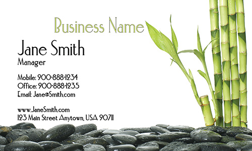 Bamboo Spa Salon Business Card - Design #601061
