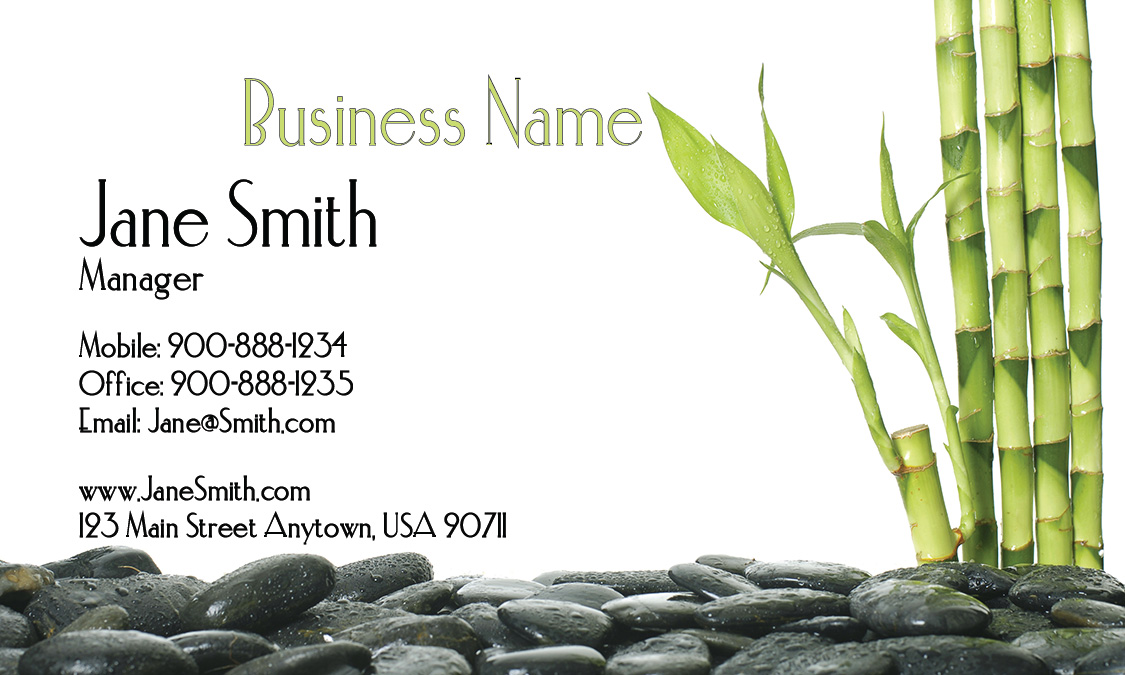 Bamboo Spa Salon Business Card Design 601061