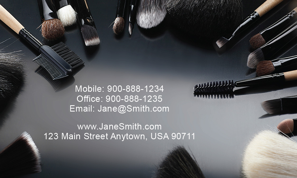 Card make up cosmetology make up artist business card design.