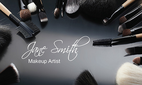 Stylish Makeup Artist Business Card - Design #601071