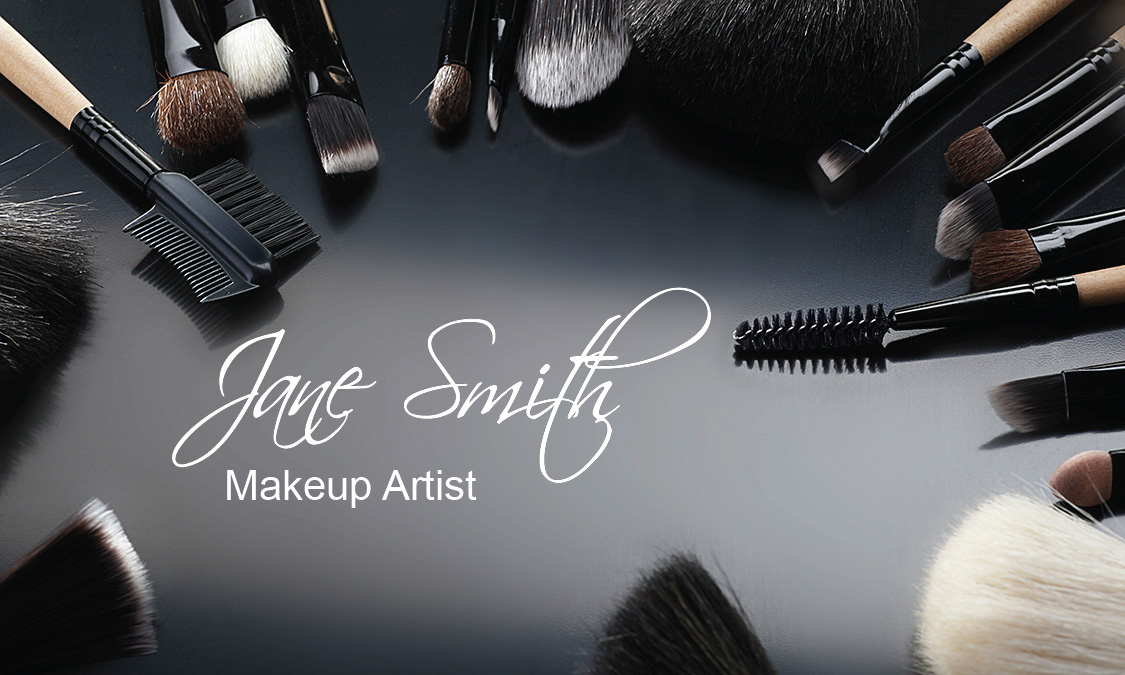Stylish makeup artist business card design 601071 flashek Image collections