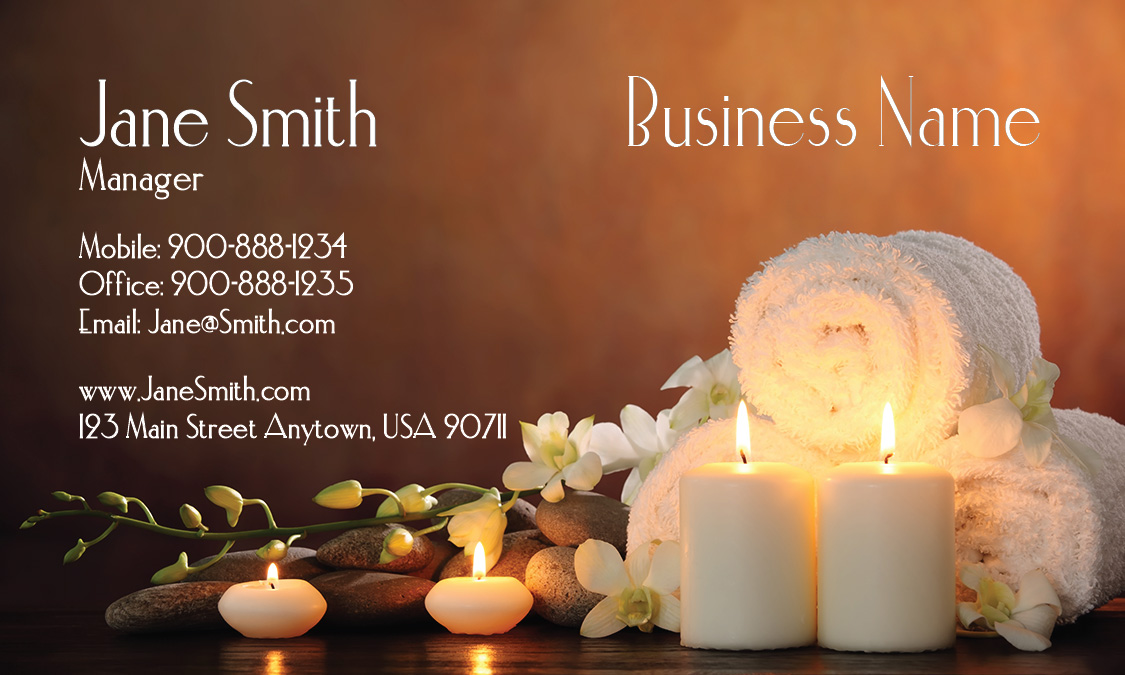 Relaxing massage and spa business card design 601081 friedricerecipe Choice Image