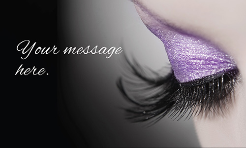 Custom business cards free templates shipping photo cosmetology make up artist business card design 601111 wajeb Gallery