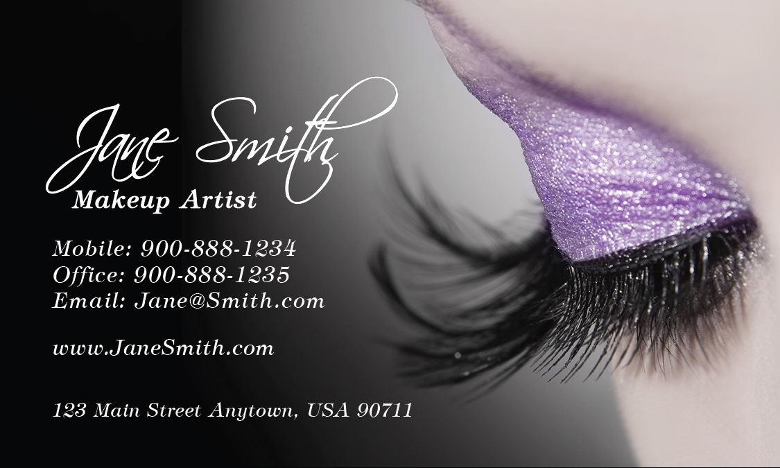 Cosmetology Make Up Artist Business Card Design