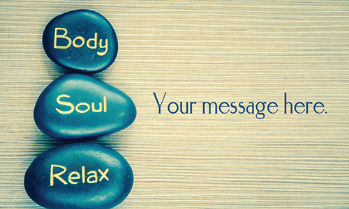 Body Soul Relax Spa and Massage Business Card - Design #601121