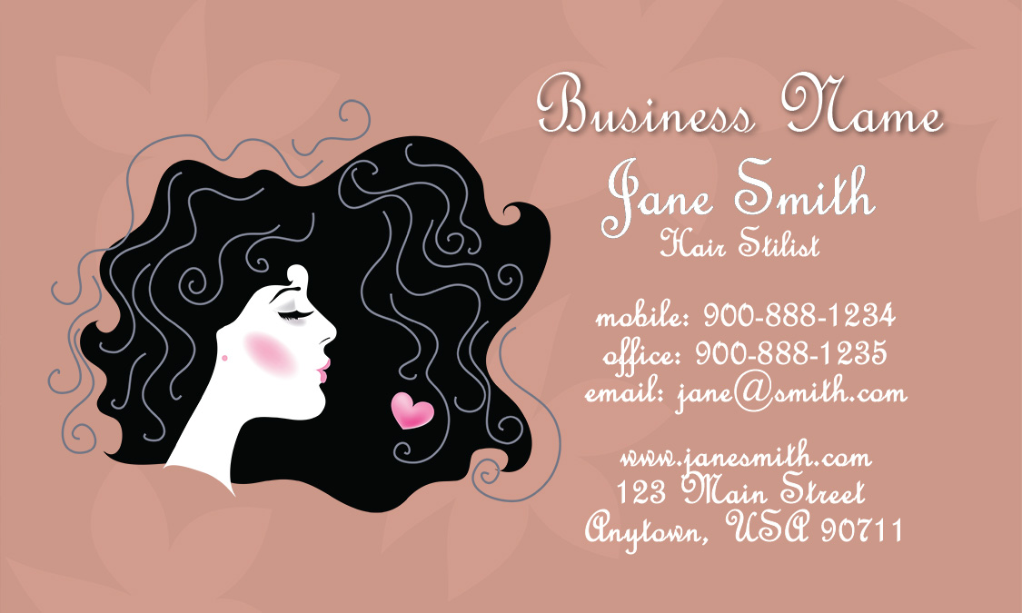 Retro hair stylist business card design 601141 fbccfo Images