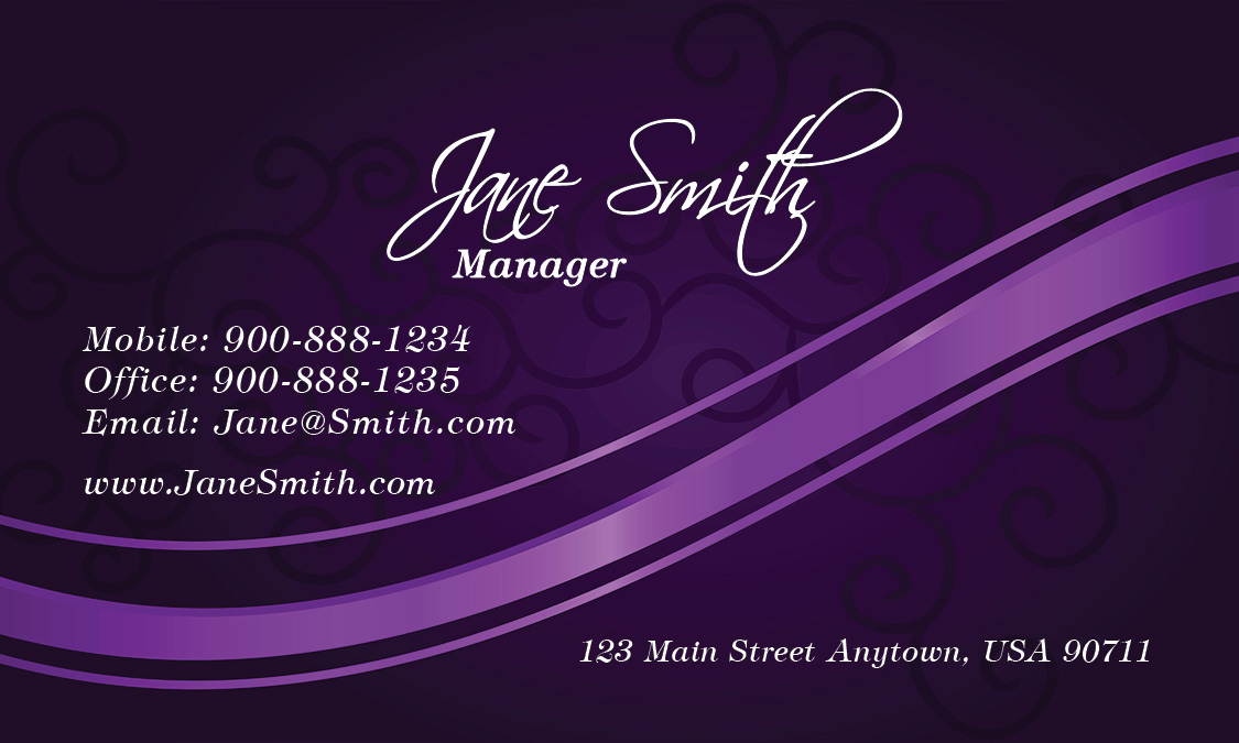 Spa salon business card design 601171 purple spa salon business card design 601171 colourmoves Image collections