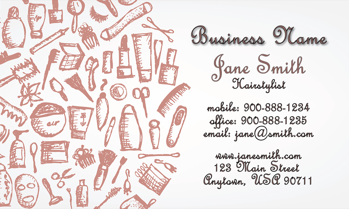 Hair Stylist Business Card - Design #601191