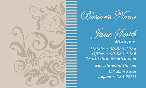 Beautiful Chic Nature Stylish Business Card - Design #601201