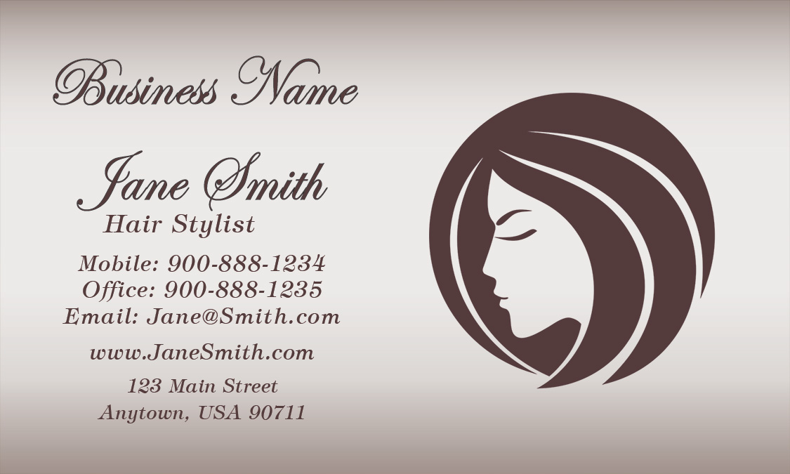 Hair Salon Business Card Insssrenterprisesco - Hair salon business card template