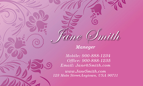Floral Theme Business Card - Design #601241
