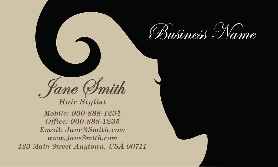 and Salon Business Card - Design #601271