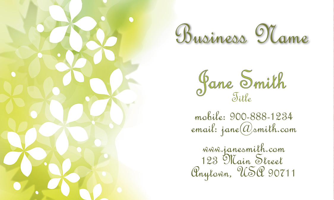 Floral Theme Spa Salon Business Card - Design #601321