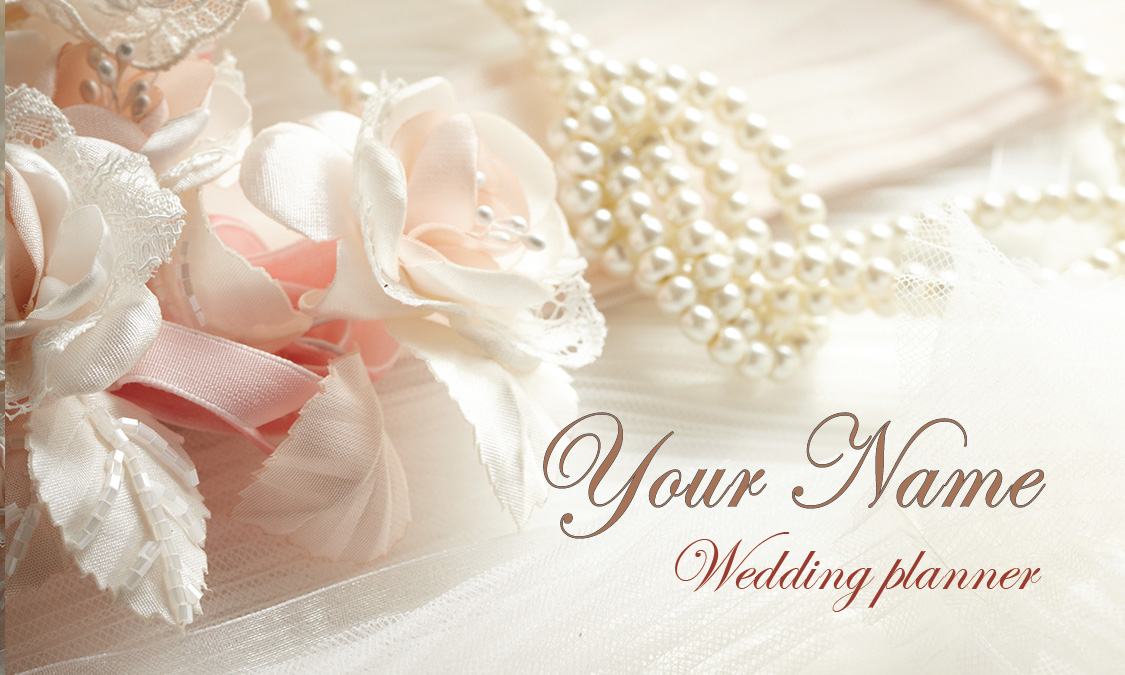 And pearls wedding business card design 701011 roses and pearls wedding business card design 701011 wajeb Choice Image