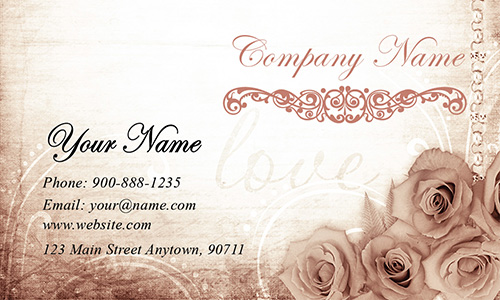 Gold And Black Wedding Business Card Design - Wedding business card template
