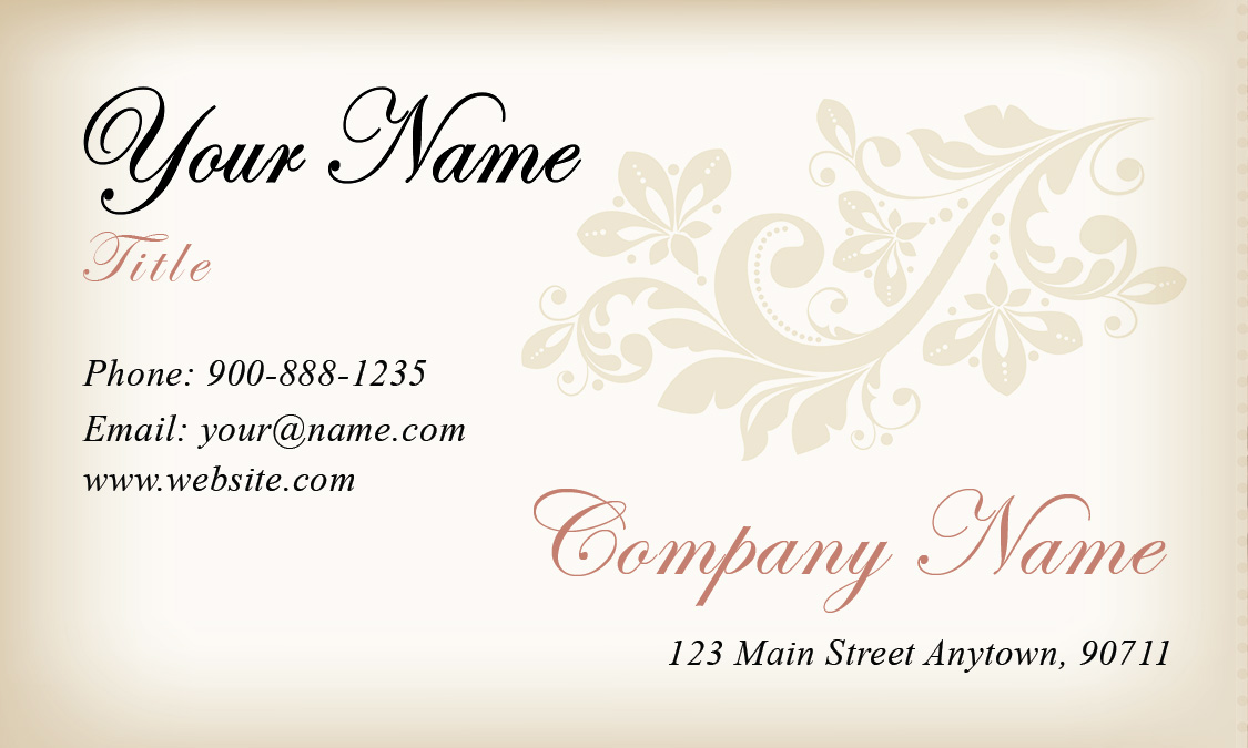Gradient wedding planner business card design 701031 wajeb Image collections