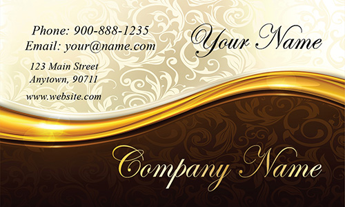 Vintage Effect Gold and Black Event Planner Business Card - Design #701041
