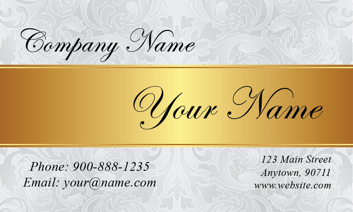 White And Gold Wedding Planner Business Card Design 701051