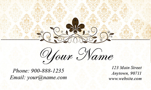 Vintage Roses Wedding Planner Business Card - Design #701021