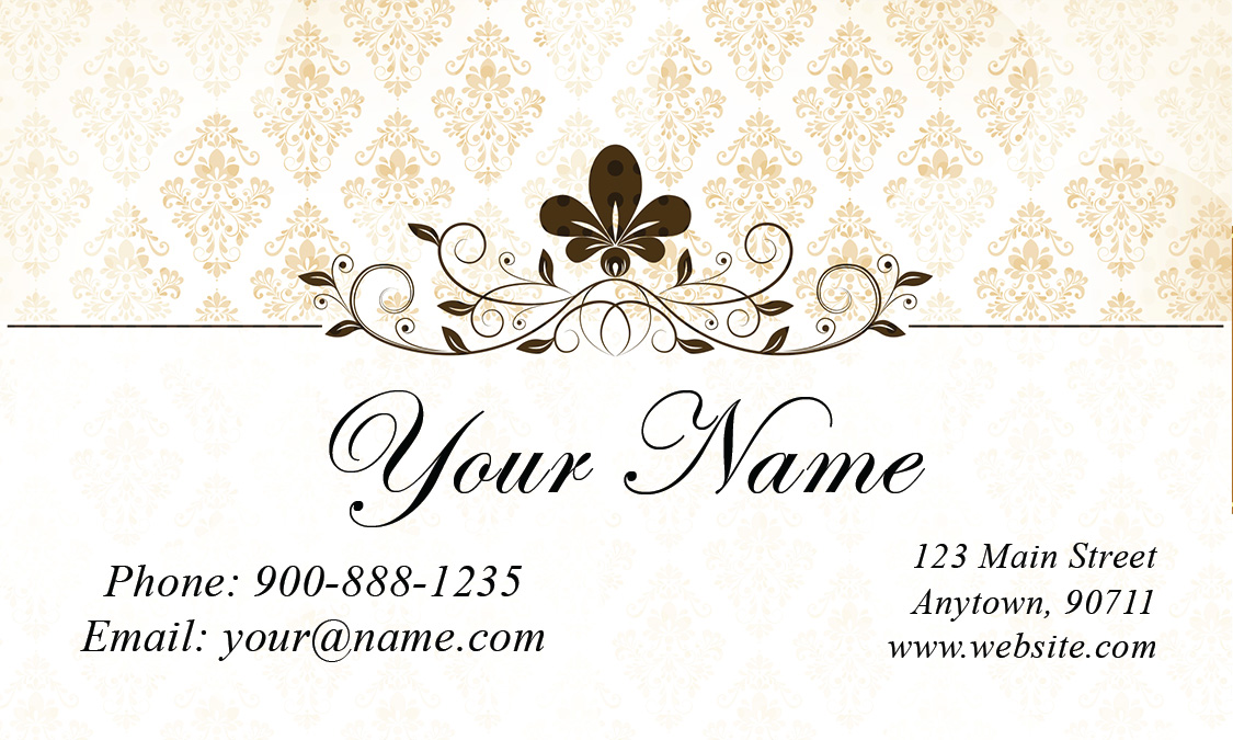 Sided Wedding Business Card Design - Wedding business card template