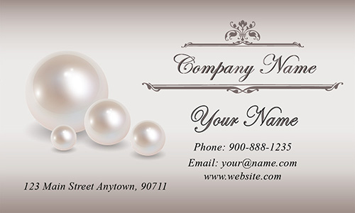 Pearl Wedding Business Card - Design #701091
