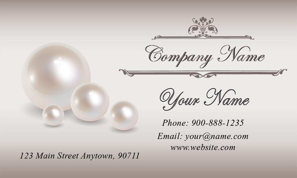 Wedding coordinator business cards elegant beautiful designs pearl wedding business card design 701091 pearl flashek Images