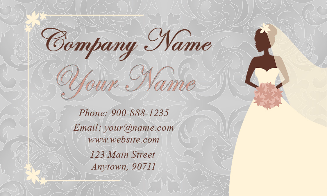 Wedding coordinator business cards elegant beautiful designs bridal specialist wajeb Image collections
