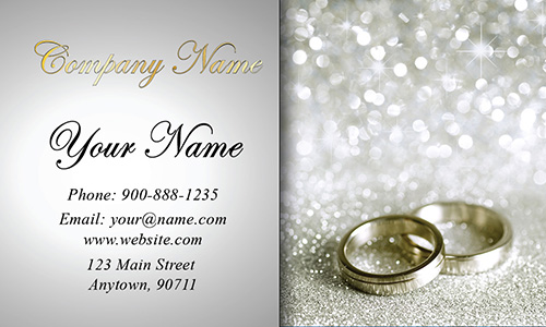 Glitter Wedding Event Coordinator Business Card - Design #701131