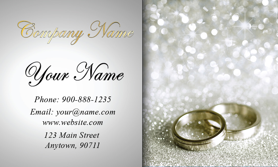 Elegant Wedding Planner Business Card Design - Wedding business card template