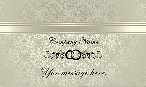 Vintage Pattern Event Planner Business Card - Design #701141