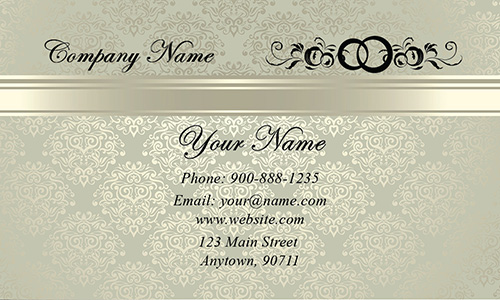 Wedding coordinator business cards elegant beautiful designs vintage pattern event planner business card design 701141 flashek Images