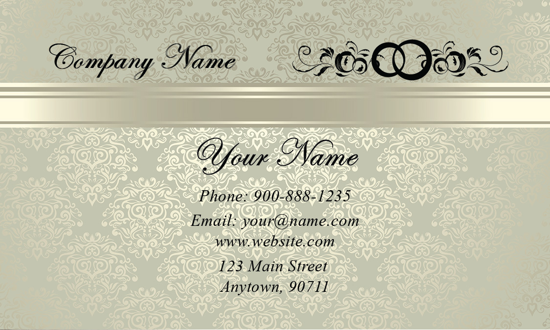 Wedding coordinator business cards elegant beautiful designs vintage junglespirit