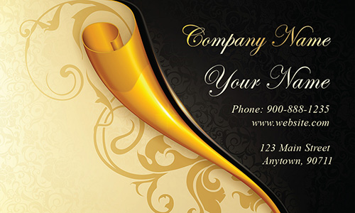 Gold Paper Wedding Business Card - Design #701161