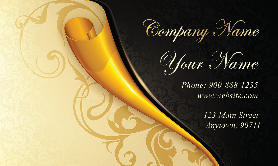 Paper wedding business card design 701161 gold paper wedding business card design 701161 flashek Images
