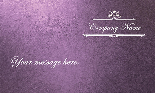 Event Coordinator Purple Business Card - Design #701171
