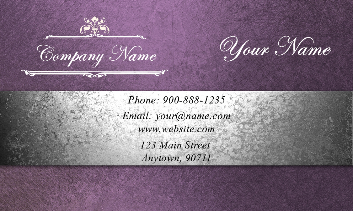 event coordinator purple business card design 701171 - Wedding Planner Business Cards