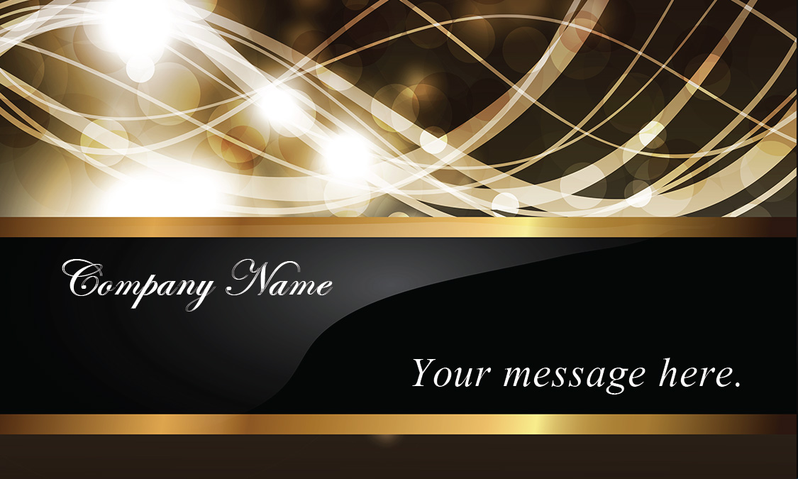 Effect Gold And Black Event Planner Business Card Design - Wedding business card template