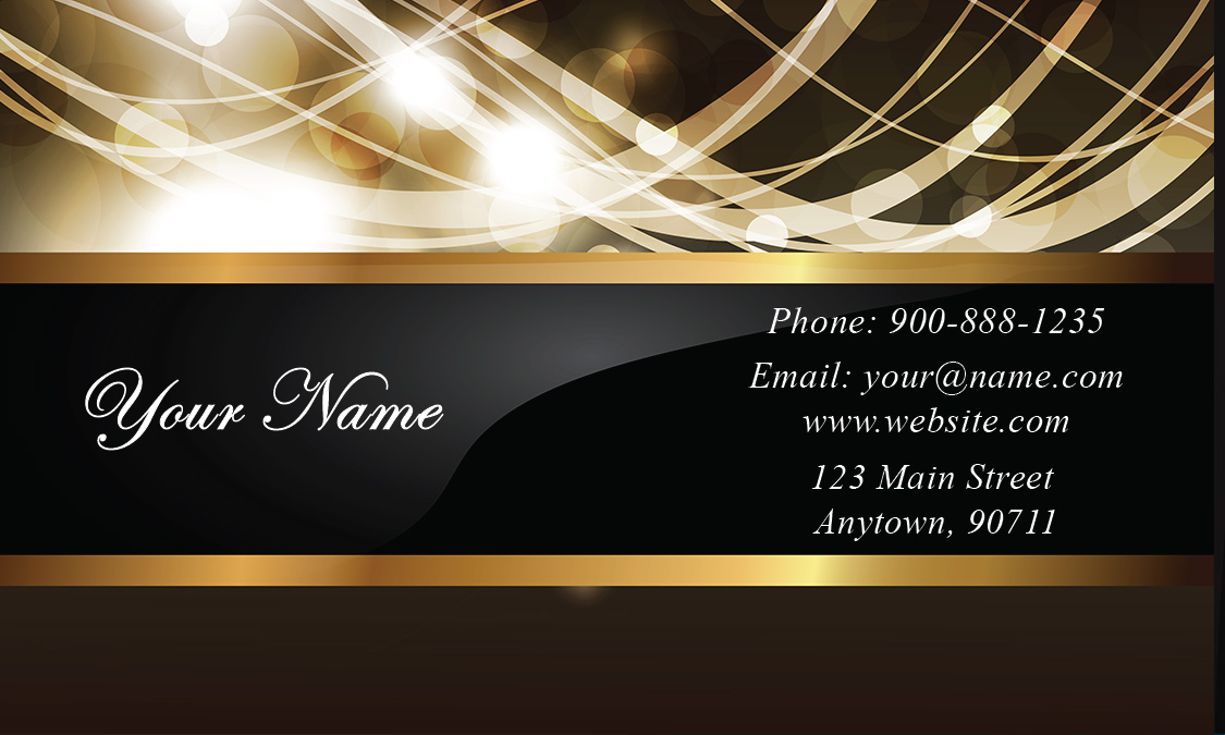 Gold Paper Wedding Business Card Design - Wedding business card template