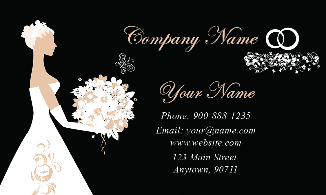 Black Wedding Coordinator Business Card Design 701201