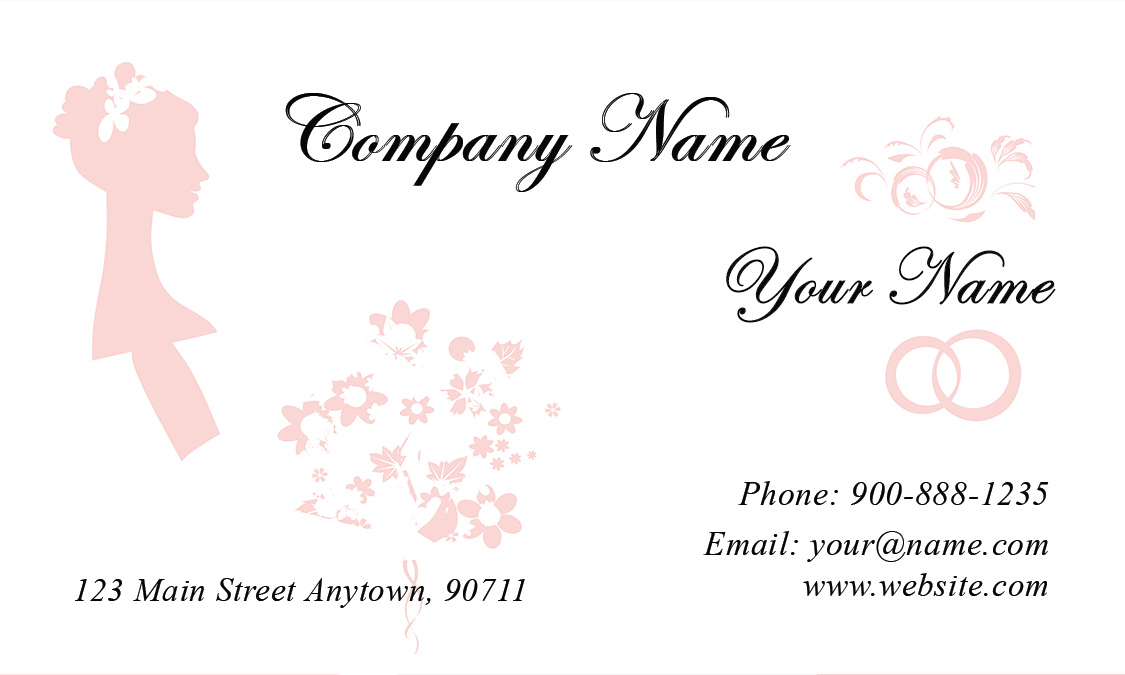 Wedding Dress Business Card Templates - Best Business 2017