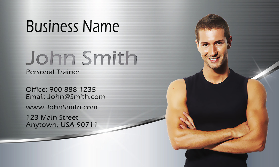 certified personal trainer business card design 801011. Black Bedroom Furniture Sets. Home Design Ideas