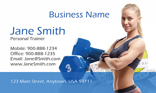 Women Personal Trainer Photo Business Card - Design #801031