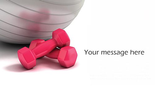 Pink Dumbbells Fitness and Aerobic Business Card - Design #801041