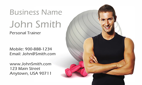 Strength Training and Fitness Consultant Business Card - Design #801051