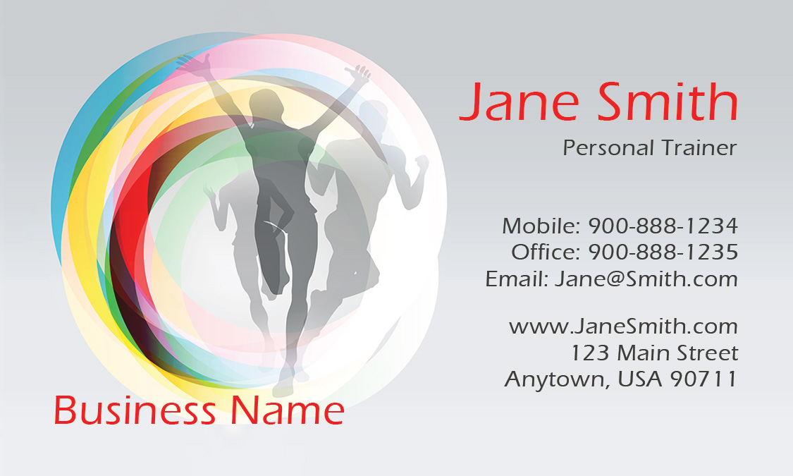 Health and fitness center business card design 801071 colourmoves