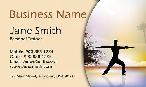Yoga Trainer Custom Business Card - Design #801091